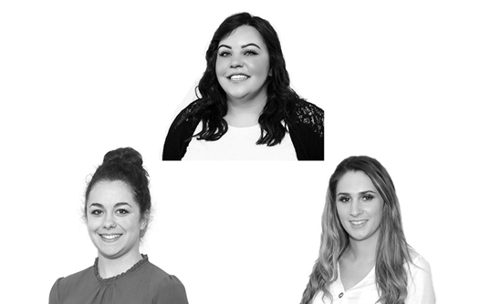 Kirsty Turner - Lettings Sales Manager, Sophie Billings - Lettings Negotiator, Jess Ludar-Smith - Lettings Negotiator