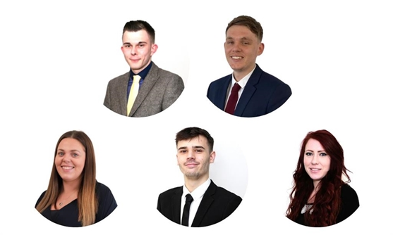 Terry Godfrey (Manager) Martin Edgecombe (Lister) Amy Rutter (Mortgage Adviser) Jess Jackson (Administrator) Dylan Loom (Sales Negotiator)