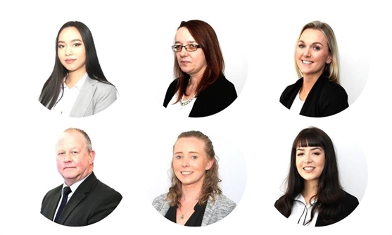 Branch Manager Ashley Kneebone, Jade Kelly, Jade Gregory, Clare Halliday, Natalie Carter.
