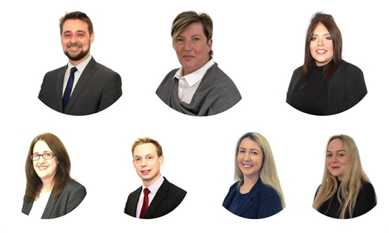 Top Row (L-R) Claire Payne, Vicki Spinner, Glenn Thomason.  Front Row (L-R) Nicola Hebblewhite, Clare Brown, Olivia Smith