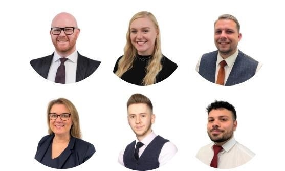 (Top L-R): Jon Williams (Branch Manager) Sarah Mercer (Mortgage Consultant) Dale Deeks (Bottom L-R): Maria Locke, Amy Rutter, Gemma Ferrari-Dunkley.